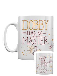 Harry Potter Dobby Mug Dobby Harry Potter, Harry Potter Style, Harry Potter Theme, Harry Potter World, Divergent Fandom, Mug Crafts, Ron And Hermione, Magical Creatures, Draco Malfoy