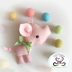 FERDY THE PIGLET (PDF) This adorable PIGLET will be perfect as part of a cute Farm theme baby mobile. As always, quick, easy, and fun to make. This PDF document will give you instructions and patterns to hand-sew a lovely 4 inch adorable little PIG. See last picture to meet his