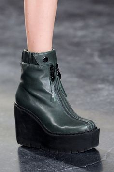 Green platform shoe at Opening Ceremony Fall 2014
