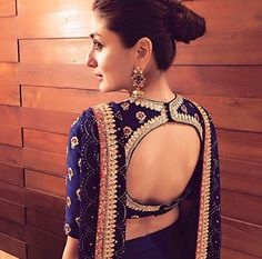 Blouse back neck designs have been a rage. Here are 54 stylish back neck blouse designs, Pick the best blouse to complement your designer saree. Blouse Back Neck Designs, Sari Blouse Designs, Bridal Blouse Designs, Blouse Styles, Saree Styles, Choli Designs, Choli Back Design, Lehenga Style, Lehenga Blouse