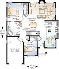 Plan modèle plain-pied - Maisons Laprise - Maisons pré-usinées - Modèle #W3222