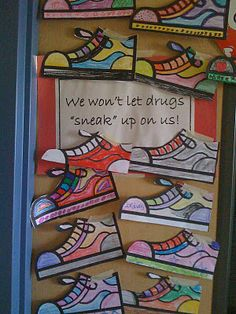 "Red Ribbon Week: We Won't Let Drugs ""SNEAK"" Up On Us     or   Stamp Out Drugs"