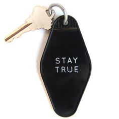 Stay True Key Tag by Three Potato Four. Cool design. Great message. $6.00