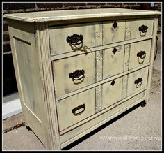 Whimsical Perspective: A Whimsical Makeover: The Cream Dresser Edition