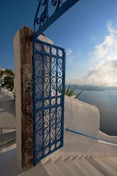 This is my #Greece | White & blue on #Santorini island, #Cyclades