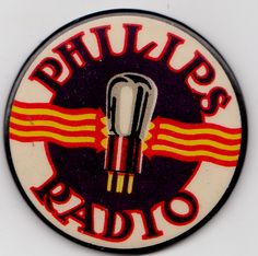 PHILIPS RADIO ADVERTISING ON A POCKET MIRROR