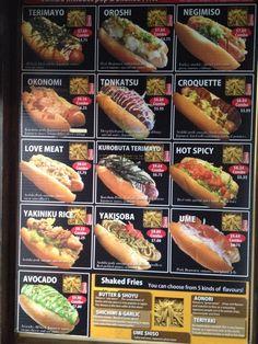 Menu Fast Food, Food Truck Menu, Food Truck Design, Dog Recipes, Fall Recipes, Cooking Recipes, Dinner Recipes, Starting A Food Truck, Gourmet Hot Dogs