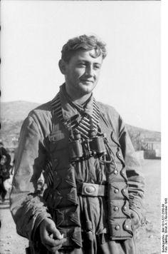 German paratrooper on the Greek Aegean island of Leros, fall 1943.
