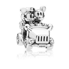 Mickey and Minnie Mouse Vintage Car Charm by PANDORA