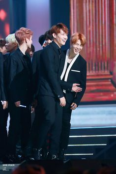 BTS at 2015 MBC Gayo Daejejun - I love the friendship between GOT7 and BTS <3