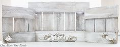 Reclaimed pallet wood frames white washed and embellished