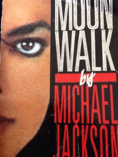 My oldest book I own. I got given this when I was twelve years old and I still have it. Precious. Michael Jackson's autobiography: Moon Walk.