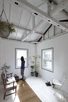 Old western-style house interior redesign by Japanese architects located in Yokohama. Project finished in Home Interior, Interior Architecture, Interior And Exterior, Interior Decorating, Country Interior, Sweet Home, White Rooms, White Walls, Minimalist Interior