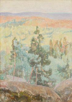"""thunderstruck9: """"Pekka Halonen (Finnish, 1865-1933), Syyskesän maisema [Early Autumn Landscape], 1921. Oil on canvas, 70 x 50 cm. """""""