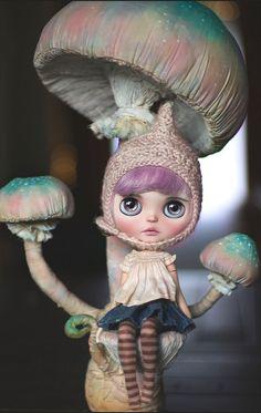 Cupcake Curio  Textile mushroom sculpture