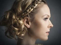 Love the braid and the curls
