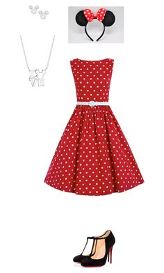"""""""Miney Mouse Inspired"""" by lmb-lulu ❤ liked on Polyvore featuring Disney and Christian Louboutin"""