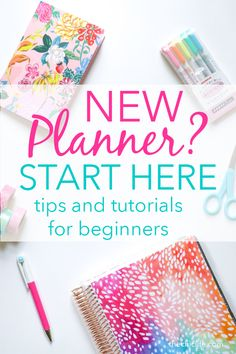 So you have a new planner but you have no idea where to start? Start here! Ive gathered my best beginner planner tips to help you use and decorate your planner with videos and photos of my actual layouts.