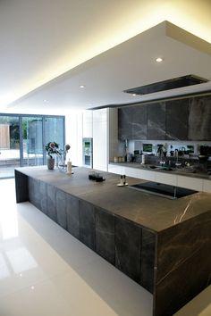 Luxury Kitchen Design, Kitchen Room Design, Dream Home Design, Luxury Kitchens, Home Decor Kitchen, Modern House Design, Interior Design Kitchen, Small Kitchens, Kitchen Layout