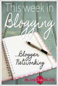 Love this weekly blog update and all the details she learns about blogging each week!