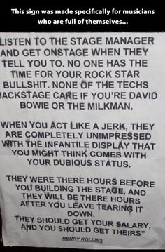 For stars who think they're a big deal...