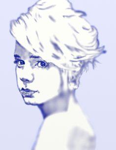 Kék portré (ceruza) 2016