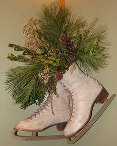 Ice Skates Christmas Arrangement
