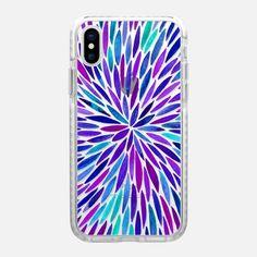 Purple Watercolor Burst – Transparent - Impact Case