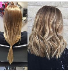 Image result for brown balayage medium length hair before after