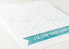 Sycamore Street Press - Follow Your Own Star Print - Art Prints $35