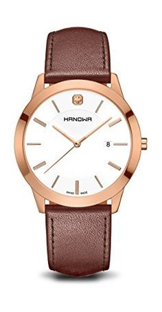 Hanowa Herren-Armbanduhr Elements Analog Quarz One Size, weiß, braun - http://uhr.haus/swiss-military-hanowa/hanowa-herren-armbanduhr-elements-analog-quarz