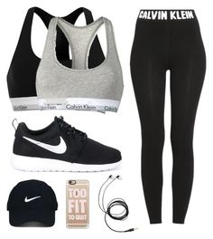 A fashion look from March 2016 featuring calvin klein trousers, cotton racerback bra and racer back sports bra. Browse and shop related looks. Cute Sporty Outfits, Cute Workout Outfits, Cheer Outfits, Womens Workout Outfits, Classy Outfits, Sport Outfits, Teenager Outfits, Outfits For Teens, Looks Academia