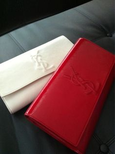 love these colors : )/ YSL clutches