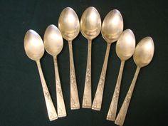 Kitchen, Dining & Bar Home & Garden Vintage Oneidacraft Deluxe Stainless Steel 6 X Coffee Spoons Boxed Wide Varieties