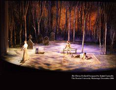 Set for Chekhov's The Cherry Orchard: Boston University Mainstage, Dec. 2006 (design: Ralph Funicello)