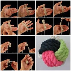 DIY Monkey's Fist Decorative Knot–Very Detail