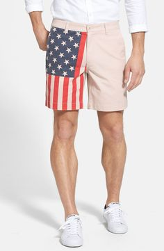Patriotic shorts for the 4th of July.