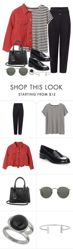 """""""Sin título #2343"""" by alx97 ❤ liked on Polyvore featuring Proenza Schouler, Tod's, Prada, Ray-Ban, Wallis and Humble Chic"""