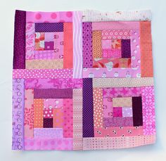 modern scrap log cabin block