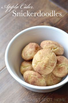 Apple Cider Snickerdoodles ~ YUM!