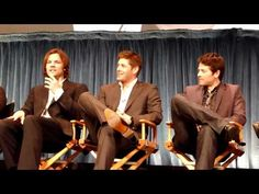 PaleyFest 2011 Supernatural Panel  The topic: Misha's acting choices come back to haunt him - and Jensen shares a story of Misha's first day on set.  FULL TEXT (courtesy of Liana Bekakos @ http://eclipsemagazine.com/television/23302/)    MAUREEN:  Any one else want to give a do-over?    MISHA:  Sure, I have one.  In the first episode where Castiel sh...