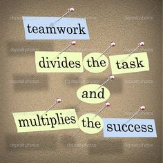 """Teamwork divides the task and multiplies the success."""" Motivational Quotes For Teamwork for Building Team Bonding Teamwork Quotes For Work, Inspirational Teamwork Quotes, Team Motivational Quotes, Best Encouraging Quotes, Tech Quotes, Media Quotes, Motivational Thoughts, Sport Quotes, Messages"""