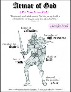 FREE Girl and Boy Armor of God Bible Study