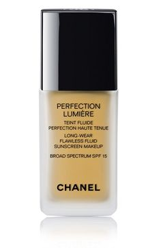 Free shipping and returns on CHANEL PERFECTION LUMIÈRE  Long-Wear Flawless Fluid Sunscreen Makeup Broad Spectrum SPF 15 at Nordstrom.com. Effortless to apply, with seamless blendability for a naturally flawless effect, this breakthrough foundation is the ideal all-day, everyday formula suitable for all skin types in a diverse range of 20 shades. Oil-free. Dermatologist-tested. Noncomedogenic.