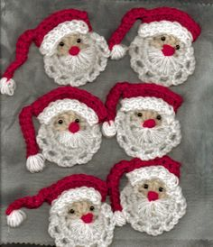 Christmas DIY: Free Crochet Santa F Free Crochet Santa Face Patterns - Bing Images Crochet Santa, Crochet Amigurumi, Holiday Crochet, Knit Or Crochet, Crochet Crafts, Yarn Crafts, Crochet Projects, Beaded Crochet, Easy Crochet