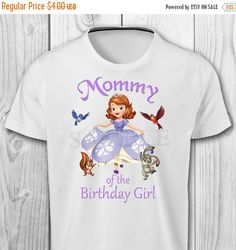 ON SALE 35% Sofia the First Mommy of the by CuteInvitation1