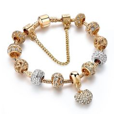 ATTRACTTO Luxury Crystal Heart Charm Bracelets&Bangles Gold Bracelets For Women Jewellery Pulseira Feminina Bracelet - Presspia Gold Heart Bracelet, Gold Bracelet For Women, Gold Plated Bracelets, Crystal Bracelets, Gold Bangles, Ladies Bracelet, Bracelets Fins, Trendy Bracelets, Fashion Bracelets
