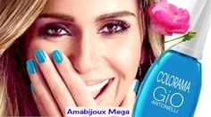 Esmalte Gio Antonelli 2015 Em 2015, a atriz Giovanna Antonelli fez parceria com a marca Colorama e lançou a coleção Esmalte Gio Antonelli - antialérgico. Veja todas as cores a seguir! http://amabijouxmega.blogspot.com.br/2015/09/esmalte-gio-antonelli-2015.html #EsmalteGioAntonelli #EuColorAmo #Unhas #GiovannaAntonelli #EsmalteAntialergenico