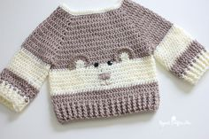 "It's so ""Beary"" Cute!! This Baby Bear Crochet Character Sweater is hot off my hook! I couldn't resist the cuteness when I spotted this crochet pattern in the newest Yarnspirations Lookbook: Baby's Day Out. Just as its title suggests, this particular Lookbook is filled with 13 knit and crochet projects for baby! Sweet clothing items, …"