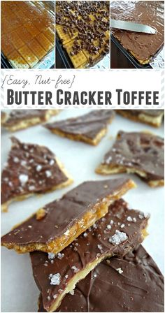 Butter Cracker Toffee {Easy, Nut-free}